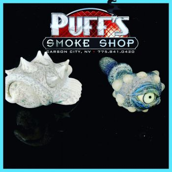 Puffs Smoke Shop Carson City, Custom Glass by Chase Hardman