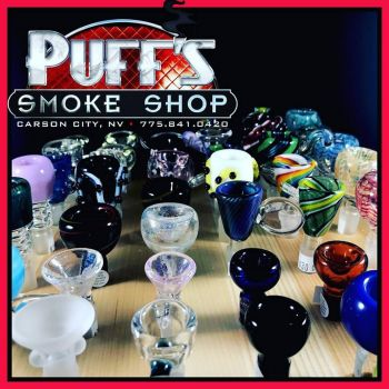 Puffs Smoke Shop Carson City, Custom Glass at Puff's