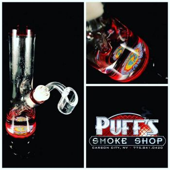 Puffs Smoke Shop Carson City, Custom Glass by Justin Palomino