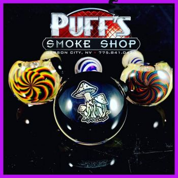 Puffs Smoke Shop Carson City, Custom Glass Pipes by Talent Glass Works